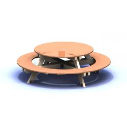 Fapad, kör alakú